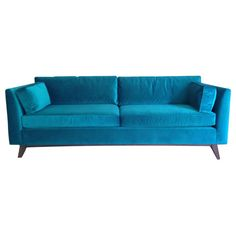 Brand new 2015 Mitchell Gold Ainsley Teal Sofa - contemporary & sophisticated!