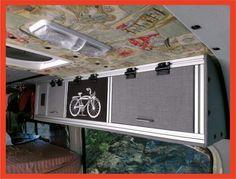 DIY Sprinter Van - Building an 8020 upper cabinet - RidingRoadsAndTrails Mercedes Sprinter Camper, Sprinter Rv, Sprinter Van Conversion, Camper Van Conversion Diy, Vw T4, Upper Cabinets, Rv Cabinets, Diy Rv, Campervan Interior