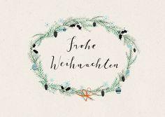 Weihnachtskarten - Postkarte Frohe Weihnachten - ein Designerstück von baer-von-pappe bei DaWanda