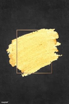 Gold paint with a golden rectangle frame on a black background vector Black Marble Background, Beige Background, Background Patterns, Golden Background, Paintings With Black Background, Gold Glitter Background, Paint Background, Framed Wallpaper, Wall Decor