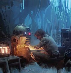 "R2 and Luke on Dagobah, ""The Empire Strikes Back"" (1980)"