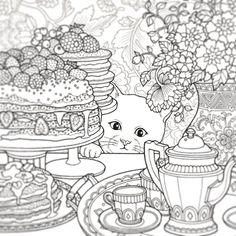 Post by daria486 on Instagram   Vibbi Cat Coloring Page, Free Adult Coloring Pages, Animal Coloring Pages, Coloring Pages To Print, Coloring Book Pages, Printable Coloring Pages, Colorful Drawings, Colorful Pictures, Mandala Art