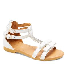 White Rhinestone Gladiator Sandal