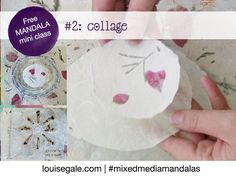 Free mandala class part 2 and paper love blog hop. This week we explore paper a little and make 2 collages with very simple paper cutouts. #freemandalaclass @bookpaperlove #paperlove