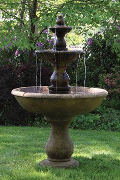 Three Tier Boca Round Fountain | Massarelli's