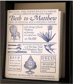 Sophisticated illustrated invitations