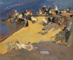 Joaquín Sorolla y Bastida - Lavanderas de Galicia - 1915 - Óleo sobre lienzo - 38,3 x 45,5 cm   - Colección Carmen Thyssen-Bornemisza
