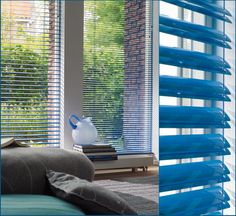 Megaview closes just like a normal venetian blind, but when opened up it dou. Types Of Blinds, Indoor Blinds, Blinds For You, Outdoor Screens, Window Styles, Roman Blinds, Open Up, Window Coverings, Soft Furnishings