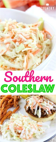 Southern Coleslaw recipe from The Country Cook. It's very similar (if not better!) than KFC!