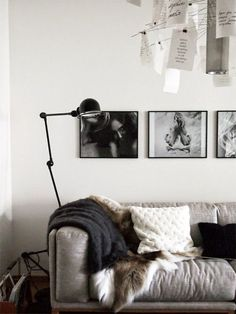 ~ because black and white never runs out of style :3 #black #white #interior