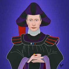 Saint Hoax retrató a trece líderes mundiales como villanos de Disney en la serie de ilustraciones: Polivillains.