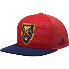 4aa9857b Men's Real Salt Lake adidas Red Authentic Team Snapback Adjustable Hat,  $25.99