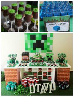 Festa Minecraft - Inspirações e Ideias   Ideias e Dicas para Festas