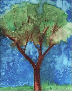 Texture with a Chemical Reaction Lesson Plan: Painting for Kids - KinderArt  Can't wait to do this one!