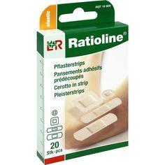RATIOLINE elastic Pflasterstrips in 4 Groeßen:   Packungsinhalt: 20 St Pflaster PZN: 01805332 Hersteller: Lohmann & Rauscher GmbH & Co.KG…