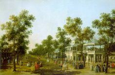 """View of the Grand Walk, Vauxhall Gardens"" by Canaletto, c1751."