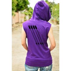 Hawkeye Archery t-shirt hoodie with arrow on the back side sleeveless ❤ liked on Polyvore featuring tops, sleeveless tops, summer shirts, no sleeve shirt, flat top and cotton sleeveless tops
