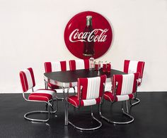 This Is The Table And Chair Set I Need In My Retro Coca Cola Kitchen!