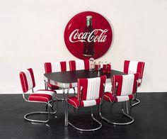 fifties, sixties, retro, 50er jaren tafels, amerikaanse tafel, restaurant inrichting eethoek 50's 60's