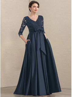 A-Line Square Neckline Asymmetrical Chiffon Mother of the Bride Dress With Appliques Lace Sequins (008235589) - JJ's House Bridesmaids And Mother Of The Bride, Mother Of The Bride Dresses Long, Mothers Dresses, Dress With Bow, I Dress, Lace Dress, Mob Dresses, Fashion Dresses, Vestidos Mob