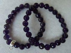 :-) Amethyst Bead Bracelets for sale :-) HappyFace313 :-)
