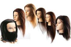 MANIQUIES PELUQUERIA PARA PRACTICAS DE PELO NATURAL Y SINTETICO. Elige el largo de pelo que necesites.