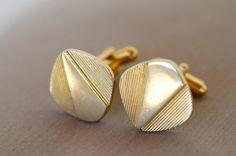 french gold plated vintage cufflinks / dandy fashion by BOULOTDODO