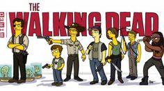 """Los personajes de 'The Walking Dead' se """"simpsonizan"""""""