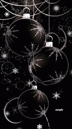 Ideas For Fashion Black Christmas Gifts Black Christmas, Christmas Balls, Christmas Art, Winter Christmas, Vintage Christmas, Christmas Decorations, Christmas Ornaments, Beautiful Christmas, Christmas Scenes