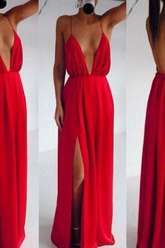 Red dress,red long prom dress,sexy prom dress,red deep V-neck long evening gowns,fashion dress for girl