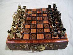Bin mir ziemlich sicher, dass dieses Schachspiel Nathaniel (Ersticktes Matt) gefallen würde... Pretty sure Nathaniel (Smothered Mate) would like this...