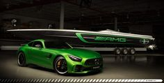 Mercedes-AMG brings racetrack spirit to the waters with the 2017 50' Marauder AMG.  Maker: Mercedes AMG x Cigarette Racing Team    Model: 2017 50' Marauder AMG    Key Features:      Design inspired by the 2018 Mercedes AMG GT R    Over 1,300