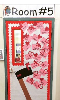 My creation #headstart valentines classroom door