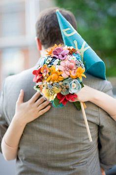 Colourful bright Wedding Bouquet