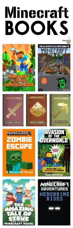 Minecraft Books -- get your kids reading with these fiction and nonfiction book choices!