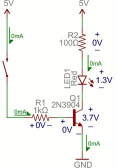 Switching an LED with a transistor
