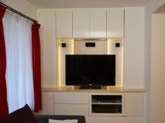Wohnzimmerverbau mit Griffloser Front