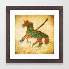 Unicorn Leaf Framed Art Print