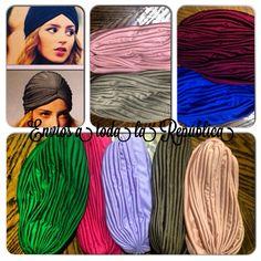 Nos acaban de llegar más #turbantes y en colores nuevos! Además de los de la foto hay en Blanco, rojo y morado!