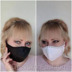 Face Mask Set, Easy Face Masks, Diy Face Mask, Bridal Mask, Summer Party Decorations, Lace Mask, Satin, Diy Mask, Pearl Color
