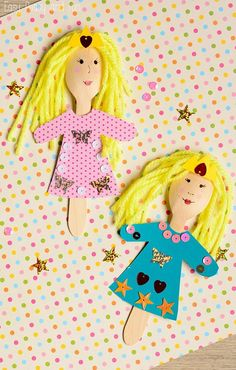 Wooden Spoon Princess Craft - Wooden Spoon Puppets