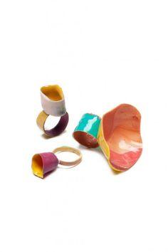 Enameled rings