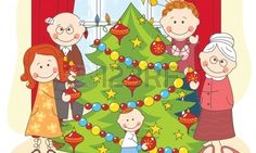 The Big Happy Family Dress Up A Christmas Tree. Royalty Free Cliparts, Vectors, And Stock Illustration. Happy Family, Family Love, Family Guy, Vector Art, Disney Characters, Fictional Characters, How To Draw Hands, Dress Up, Christmas Tree