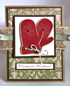 Courtney Lane Designs: Warmest Wishes card made using the October stamp of the month and the Artiste cartridge. Hanukkah Cards, Xmas Cards, Holiday Cards, Gift Cards, Homemade Christmas Cards, Homemade Cards, Christmas Recipes, Christmas Holiday, Christmas Ideas