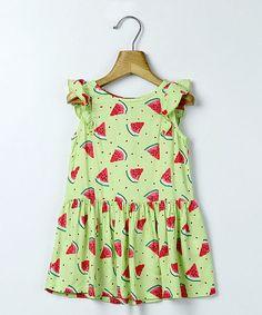 Light Green Watermelon Dress - Infant, Toddler & Girls