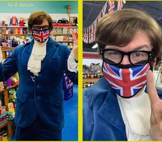 Day Maker! Repost @britishemporiumtx CELEBRITIES IN MASKS! Who's eying you behind that groovy British mask? Yeah, Baby! Austin Powers (aka #PhilParsons) made an appearance at his favourite #British corner store today. The International Man of Mystery's always a step ahead of Dr Evil - and knows how to stay safe during the pandemic. You too can purchase one of these trendy new #UnionJack masks here along with some fantastic British treats. Far out! #AustinPowers #britishemporium #grapevinetx… International Man Of Mystery, Dr Evil, Austin Powers, Union Jack, Stay Safe, Masks, Great Gifts, British, Corner