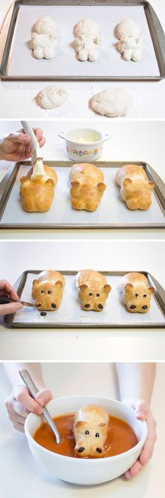 Healthy and Easy Hungry Hippo Bread and Soup Recipe for Kids