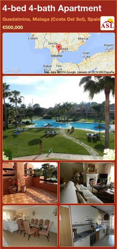 Apartment for Sale in Guadalmina, Malaga (Costa Del Sol), Spain with 4 bedrooms, 4 bathrooms - A Spanish Life Murcia, Malaga, Open Fireplace, Apartments For Sale, Best Location, Terrace, Swimming Pools, Golf Courses, Bath
