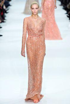 Elie Saab Spring 2012 Couture Fashion Show - Anja Rubik