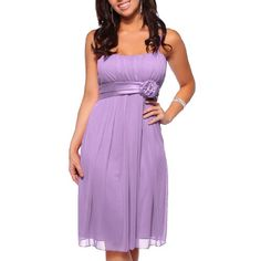 Womens Designer Flowy Pleated Evening Prom Cocktail « Dress Adds Everyday